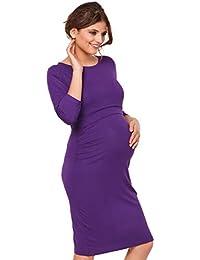 Para Mujer Vestido en capas premamá de lactancia. Mangas 3/4