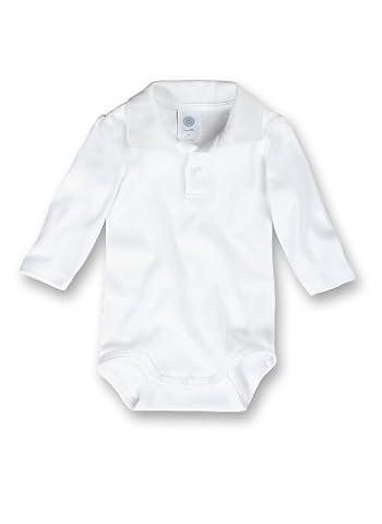 Sanetta Unisex - Baby Body 321702, Gr. 98, Weiß (Bottoni Cotone Slip)