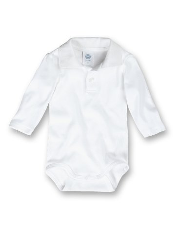 Sanetta - Body, manica lunga, bimbo, Bianco (Weiß (10)), 80 (Bottoni Cotone Slip)