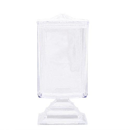 UEB Boîte De Rangement Transparente Pour Coton De Maquillage Coton Pour Enlever La Manucure
