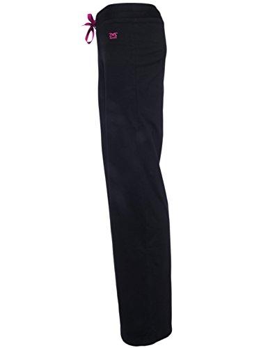 Pantaloni fitness Djaneo Brasilia. Fondali da jogging donna per lo sport in 35 colori nero e rosa