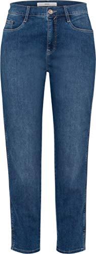 Brax Damen Jeans Caro S 7/8-Länge darkblue (83) 44 Broken Twill-denim