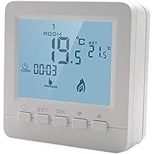 exing Termostato Regulador de temperatura para gas caldera Calefacción Termostato programable montaje en pared