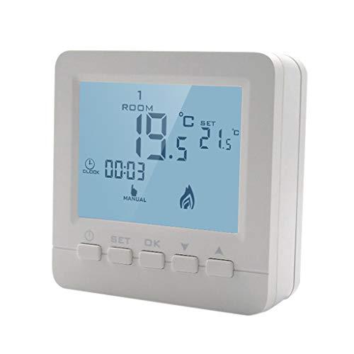 Yyooo Gas Boiler Heizungs-Temperaturregler Programmierbarer Thermostat An Der Wand Montiert -