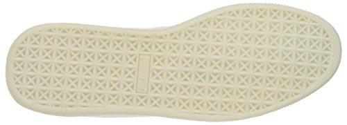Puma Basket Knit Mesh Synthétique Chaussure de Tennis White-Gray-Violet