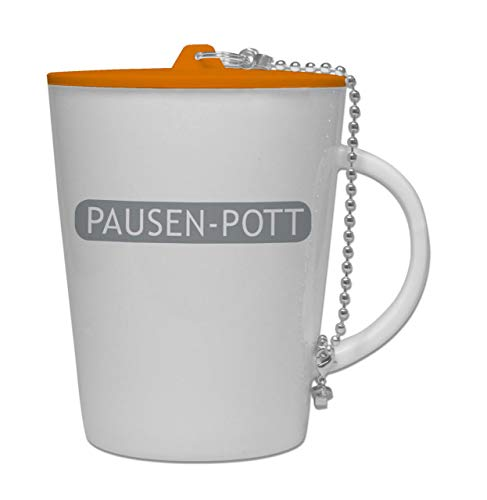 Lehrerbüro Pausen-Pott, Kaffeetasse aus Porzellan, mit Kunststoffdeckel, Teetasse, Kaffeebecher,...