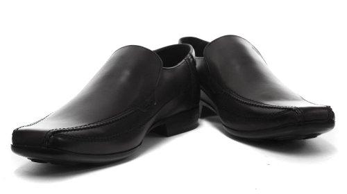 De Los Deslizamiento De Negro Cuero En Base Ángel Hombres Zapatos Los Marrón London zqZIwn5Y