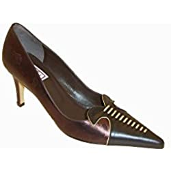 Renata Metallic Chocolate With Soft Gold Detail 3 Brown