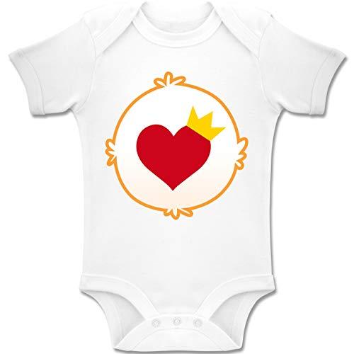 Karneval und Fasching Baby - Cartoon-Bärchis Krone - 3-6 Monate - Weiß - BZ10 - Baby Body Kurzarm Jungen Mädchen