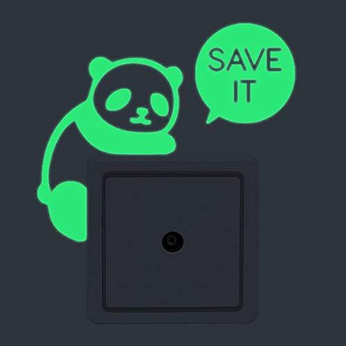 dfgjdryt Bunte 1 Stück leuchtet im Schalter Kreative Kinderzimmer abnehmbare Vinyl-Wandaufkleber Dekoration Panda für Zuhause Dekoration - Yk022-panda