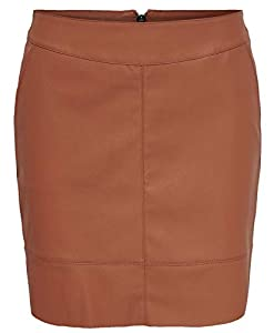 ONLY Damen Onlbase Faux Leather Skirt OTW Noos Rock