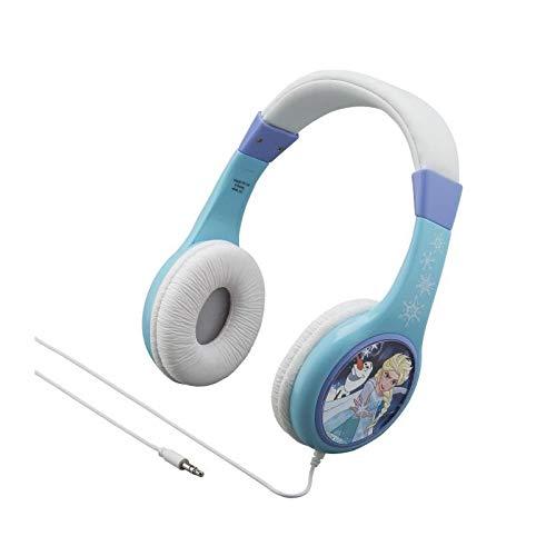 ekids FR de 136Disney Frozen Auriculares con Volumen limitación größenverstellbar Frozen Anna y Elsa Azul