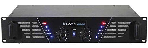 Ibiza Sound AMP600 Resa/fase Cablato Nero amplificatore audio