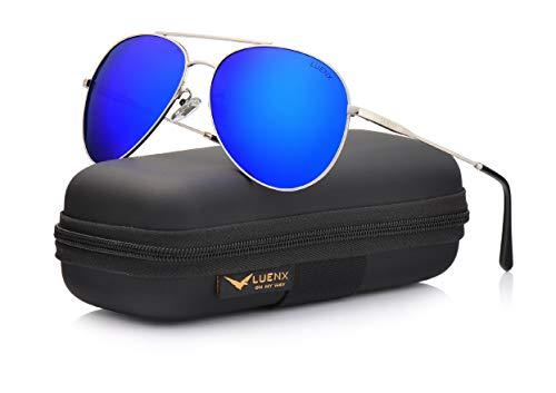 LUENX Damen Aviator Sonnenbrille polarisierte männer: uv 400 Schutz Fashion Style, Fahren 59mm