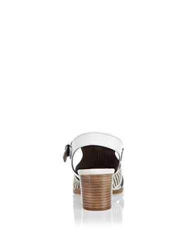 CAFe NOIR Cafenoir XL407 Sandales à Talons Hauts Femmes Blanc