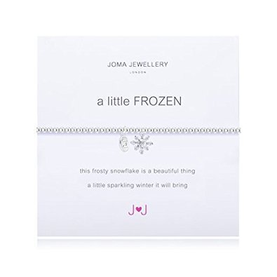 Joma Jewellery–A Little Frozen–Armband–Silberne Schneeflocke aus Kristall  - Kristall-schneeflocke