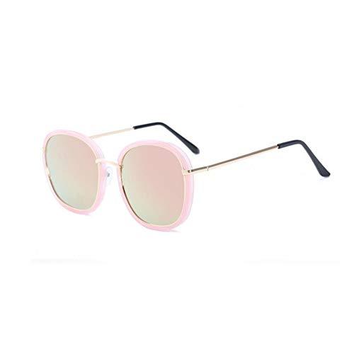 Taiyangcheng Quadratische Sonnenbrille Frauen Vintage Flieger Sonnenbrille Weibliche Damen Sonnenbrille,Rosa