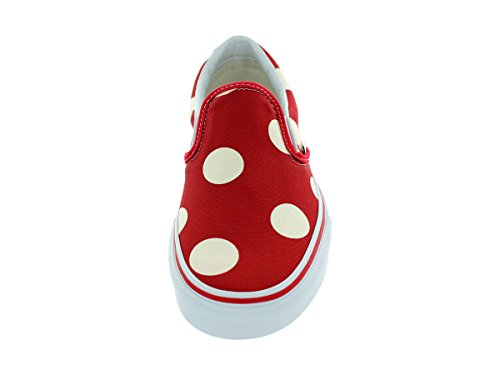 VANS Chaussures - CLASSIC SLIP ON - Polka Dots Formula One Rouge