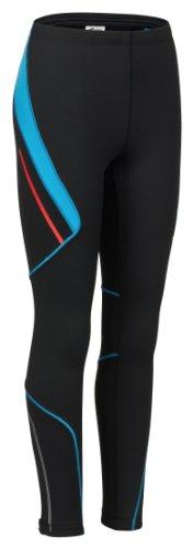 Rono Polaris Thermo - Pants da donna, aderenti, termici - Black/Blue Jewel (9101)