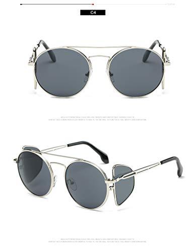ZJWZ Marine Film Hot Fashion Sonnenbrillen Persönlichkeit europäischen Stil Vier Objektiv Sonnenbrillen Trend Sonnenbrille,C4