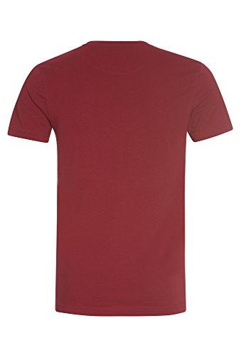 TANTUM O.N. Rundhals T-Shirt, Herren Herren-Shirt,Shirt,T-Shirt,Kurzarm-Shirt, Weinrot