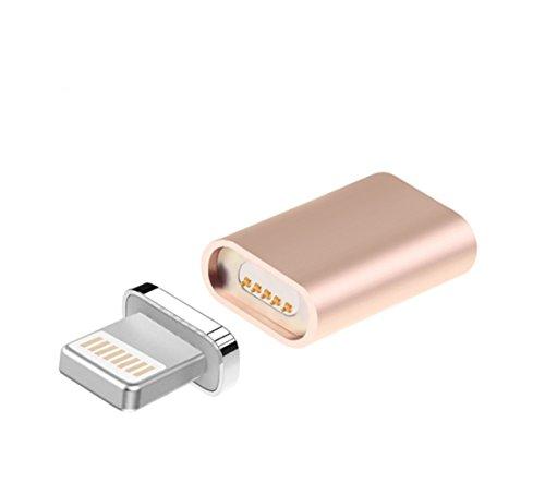 magnetisch Lightning Adapter magnetisch Konverter MicroUSB magnetisch Connector für iPhone 7 / 7 Plus / 6 / 6 Plus / 6s / 6s Plus / 5 / 5c / 5s, iPad Pro mini2 mini3, iPod - iOS - Gold (Ich Handy Sechs-zubehör)