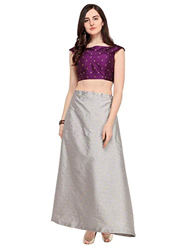 Indian Clothing Store VARAYU Women's Poly Silk Lehenga Choli with Unsitched Blouse Chic Saree