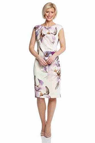 Roman Originals Women's Ivory Floral Print Shift Dress