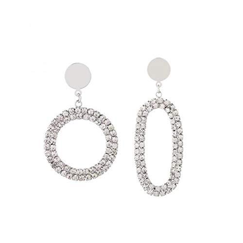 WZYMNED 1 Paar/Satz Frauen Anti-allergie Glänzende Zirkon Dekoration Anhänger Überzogene Schicht Ohr Ringe Ohrringe - Ring-sätze Diamant-hochzeit Gold