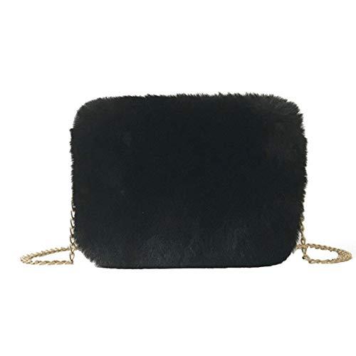 Crossbody borse morbida pelliccia sintetica borsa a tracolla pochette borsello con catena strap borse spalla per la femmina