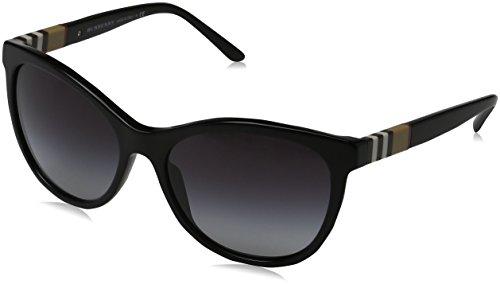 Herren Von Burberry Für Sonnenbrille (BURBERRY Unisex Sonnenbrille BE4199, Schwarz (Gestell: Schwarz, Gläser: Grau-Verlauf 30018G), Large (Herstellergröße: 58))