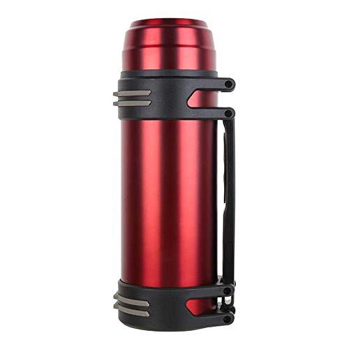 Thermoskanne, Thermobecher Reisebecher, Outdoor Bergsteigen Wärmflasche gerade Tasse mit Griff Edelstahl Isolierung 12-24 Stunden (Farbe : C, Größe : 1000ml) -