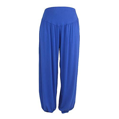 BHYDRY Womens elastische lose beiläufige modale Baumwolle weiche Yoga Sport Dance Harem Hosen