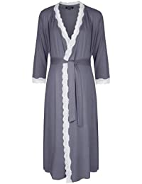 Radiance Dresssing Gown (Maternity & Breastfeeding) in Dove Grey (Large (UK 14-16))