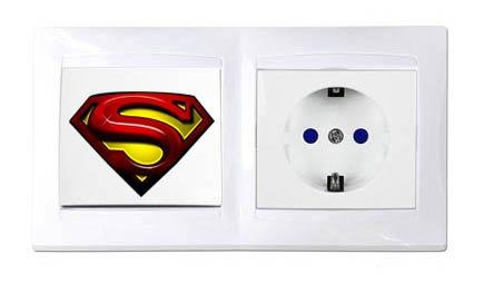 Vinilo SUPERMAN interruptor.