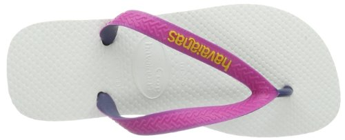 Havaianas Top Mix, Tongs Femme Blanc / Rose 0826