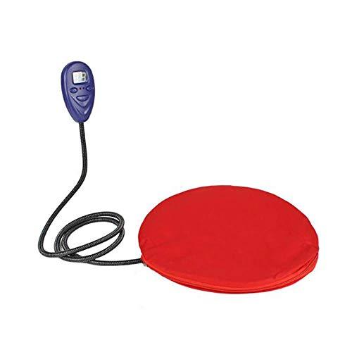 Kerlana Pet Heizung Pad, 12W elektrische Cat Dog Heizung Bett Matte, 7 Grad Temperaturregelung mit kauenfeste Schnur und Fleece waschbar Abdeckung-rot (30 * 30 cm) (Color : -, Size : -) -