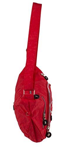 Borsa sportiva in nylon borsa a tracolla borsa a tracolla piccola in diversi colori rosso rot rot