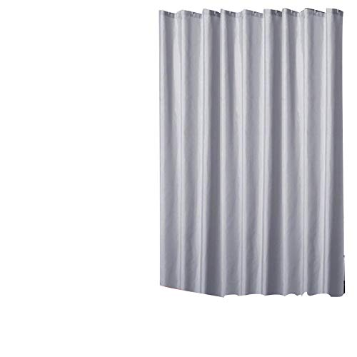 Qsy curtain Bekleidungsgeschäft Haushalt Badezimmer Polyestergewebe, 150 x 200 hoch + Haken, Silbergrau