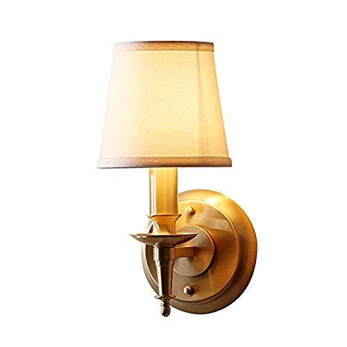 Moderne Unbedeutende Dekorative Beleuchtung Des Schlafzimmerwohnzimmersesszimmers Der Messing-Led-Wandlampe -