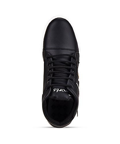 ESSENCE Men's Black Synthetic High Top Shoes - 4