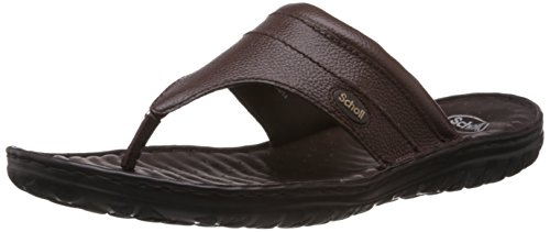 Dr.Scholl Men's Basic Thong Brown Leather Hawaii Thong Sandals - 7 UK (8744887)  available at amazon for Rs.1359
