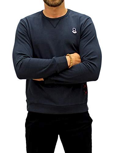 EL PULPO Sweatshirt, Besticktes Logo, für Herren, Blau - blau - Größe: Large -
