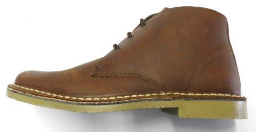 Leather Waxy Roamer Unisex Desert Erwachsene Boots Brown ITYwI