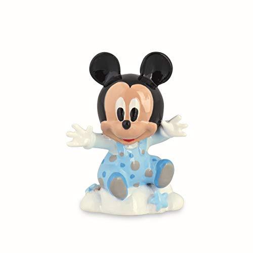 Formoso bomboniera topolino mickey mouse disney su nuvoletta in resina celeste art 69500