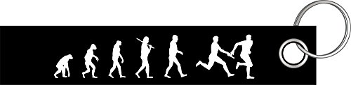 Staffellauf Staffel Lauf Leichtathletik Evolution Schlüsselanhänger Schlüsselband Keyholder Lanyard