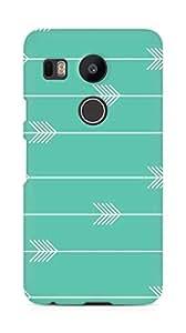 Amez designer printed 3d premium high quality back case cover for LG Nexus 5x (Arrow Pattern)