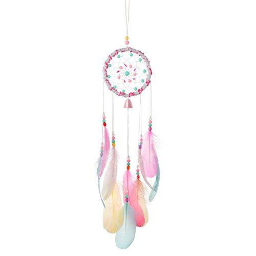 Tyhbelle Handgewebter Traumfänger pink für Zimmerdekoration Traumfänger (Traumfänger(Pink)) (Dreamcatcher)