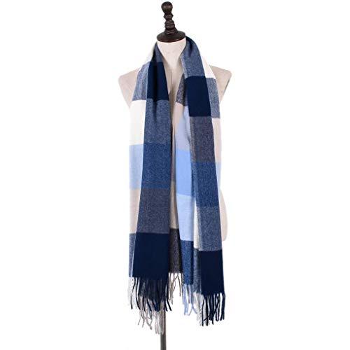 Lidahaotin Frauen Männer Winter Herbst Troddelschal Patchwork-Ansatz-Verpackung Warmer Mischfarbe Fringe Blanket Schal # 5