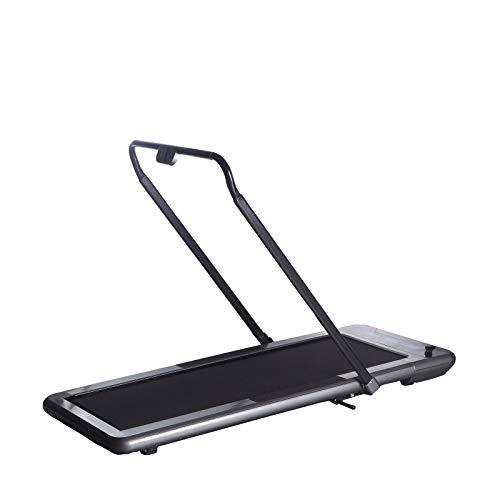 WalkSlim 470 Laufband, klappbares Fitnessgerät und ideales Walking Sportgerät für Zuhause, mit Kalorienzähler, LCD-Anzeige und Fernbedienung in Edler Farbkombination Schwarz und Silber